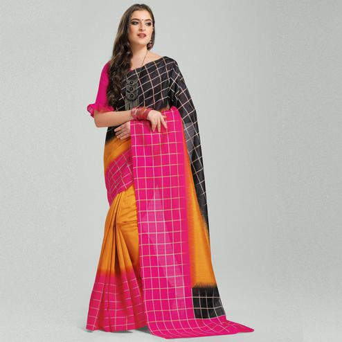 Beautiful Multicolored Colored Casual Printed Bhagalpuri Silk Saree