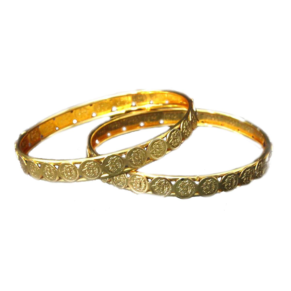 Laxmi Coin Golden Bangle set