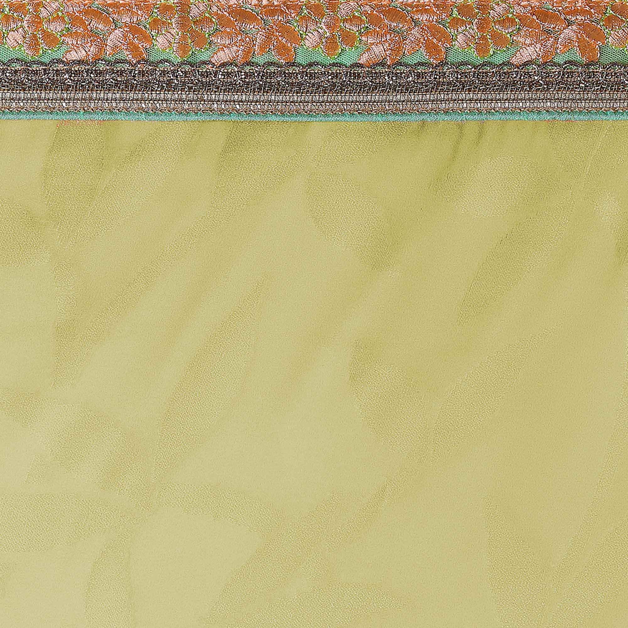 Appealing Shaded Green Colored Party Wear Georgette Brasso Saree