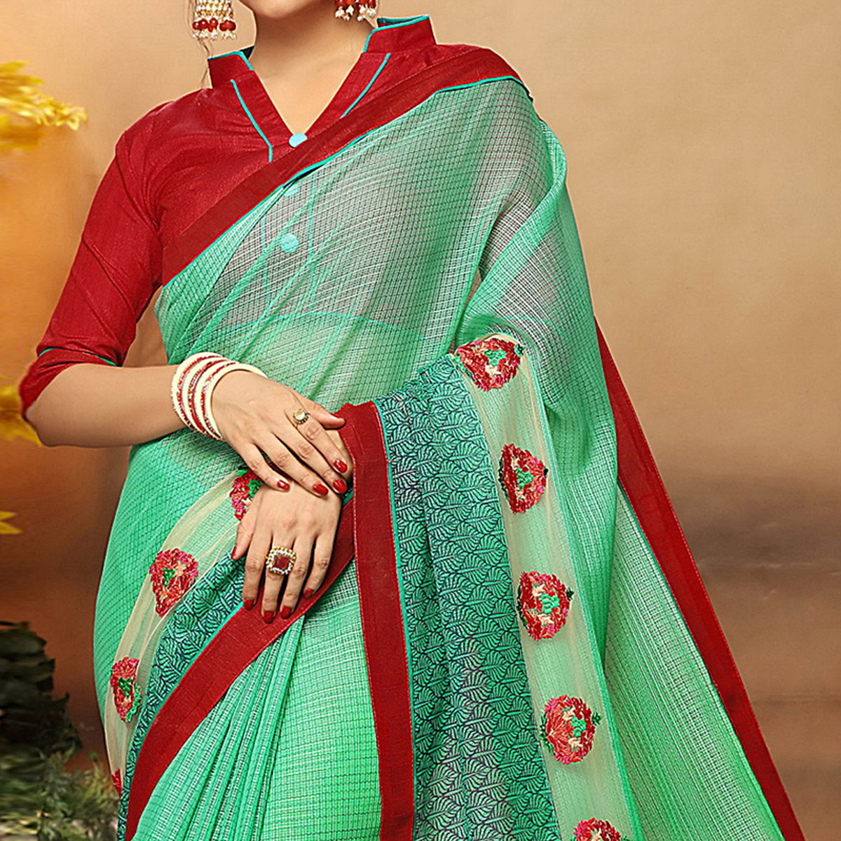 Alluring Green Colored Party Wear Art Silk Saree