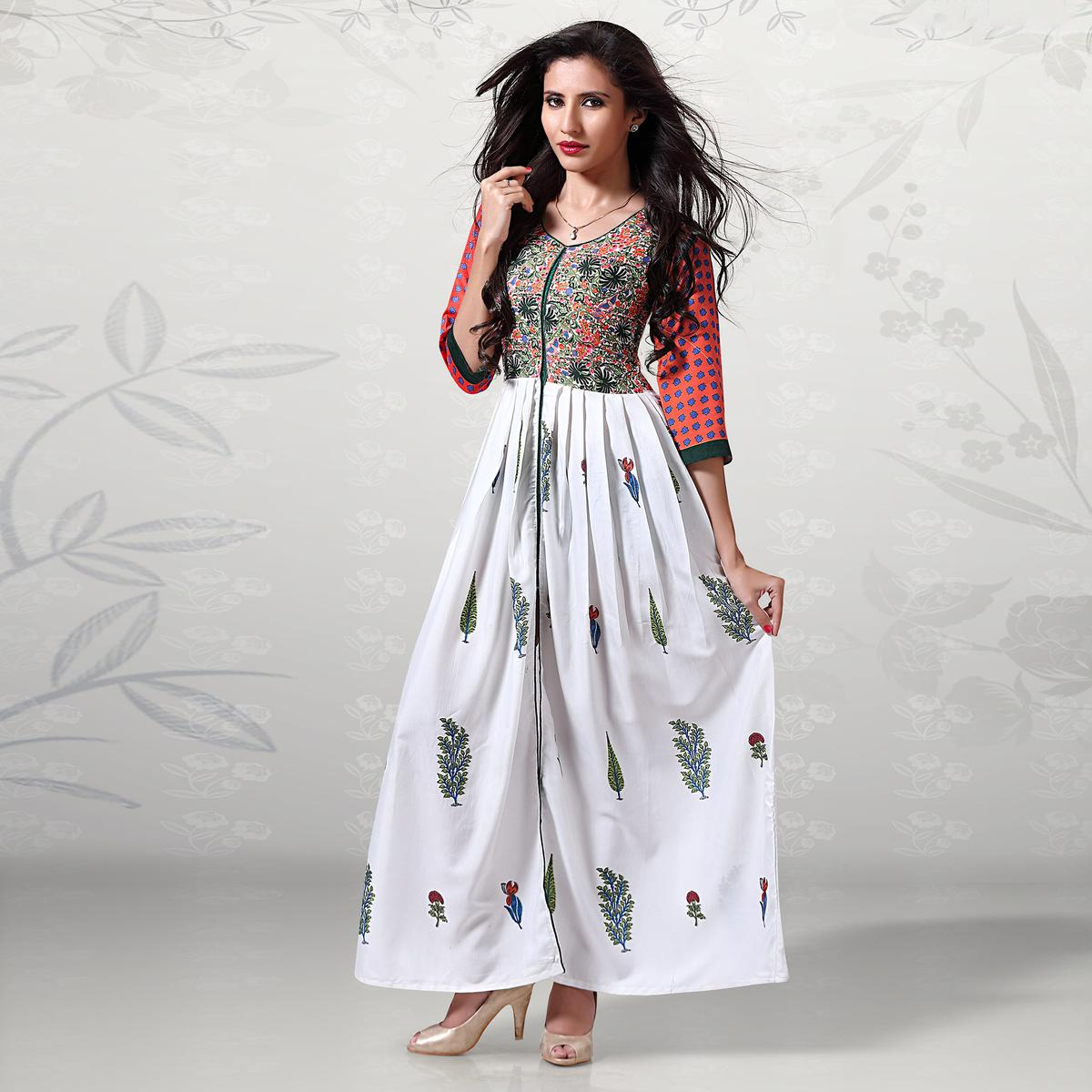 Beautiful Multi Colored Digital Printed Cotton Kurti