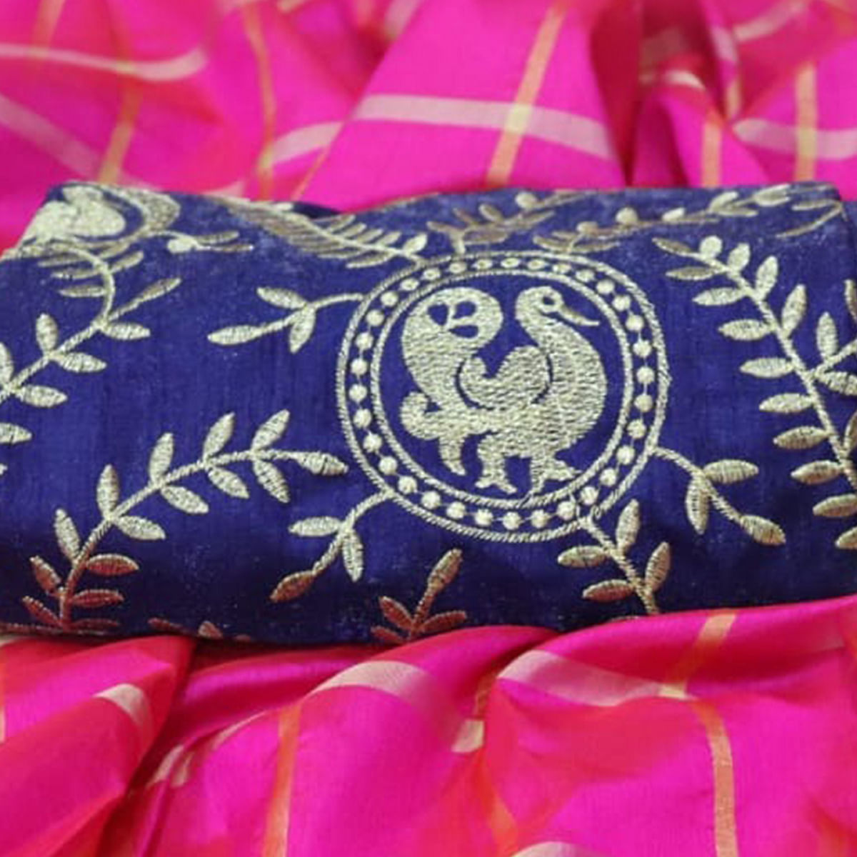 Stunning Pink Colored Partywear Sana Silk Saree