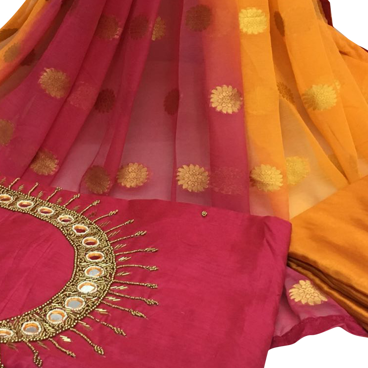 Pleasing Dark Pink Colored Partywear Embroidered Santoon Dress Material