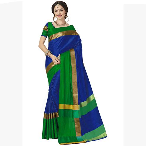 Irresistible Navy Blue Colored Festive Wear Art Silk Saree
