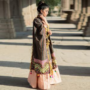 Attractive Multi Colored Embroidered Khadi Cotton Dupatta