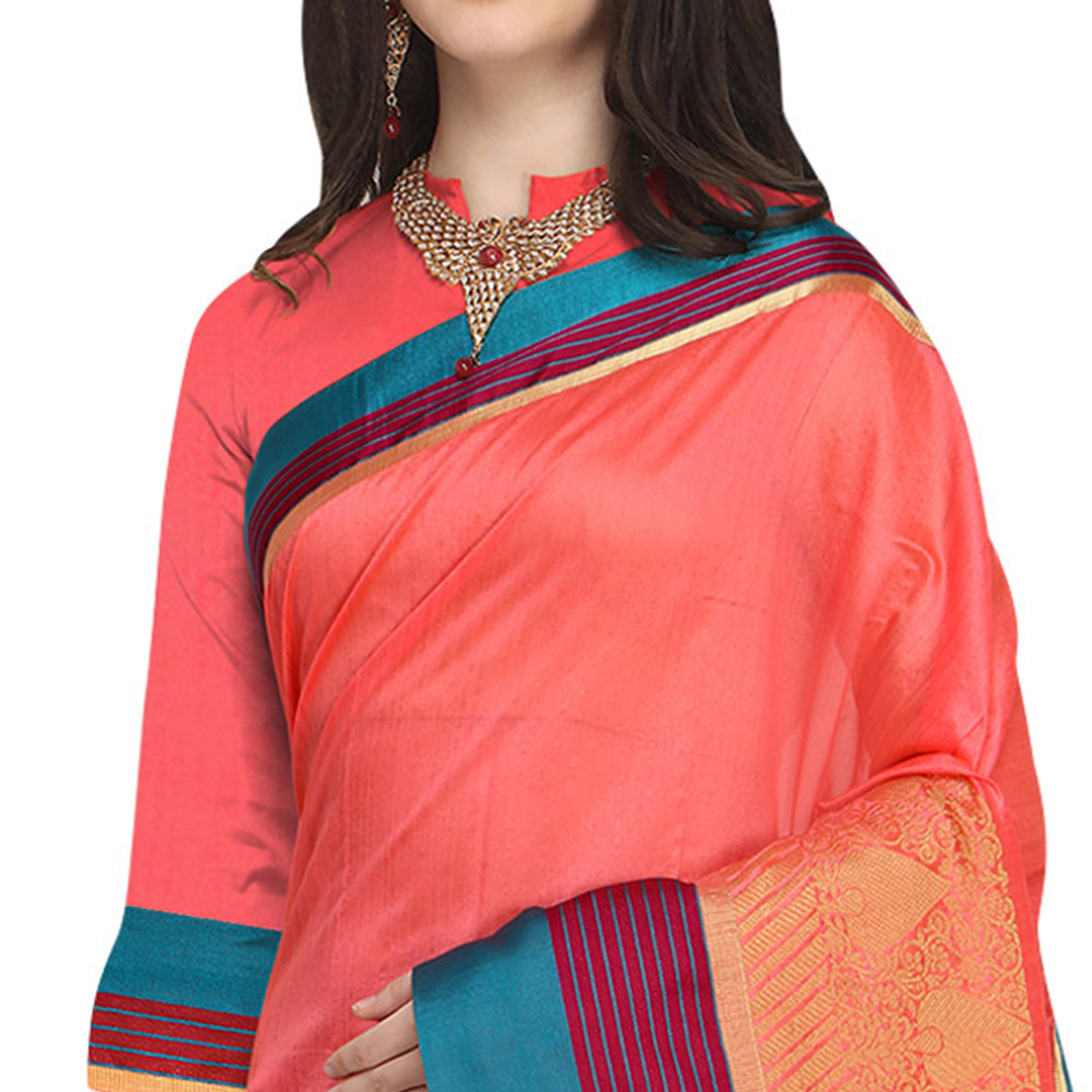 Mesmerising Pink Colored Festive Wear Woven Art Silk Saree