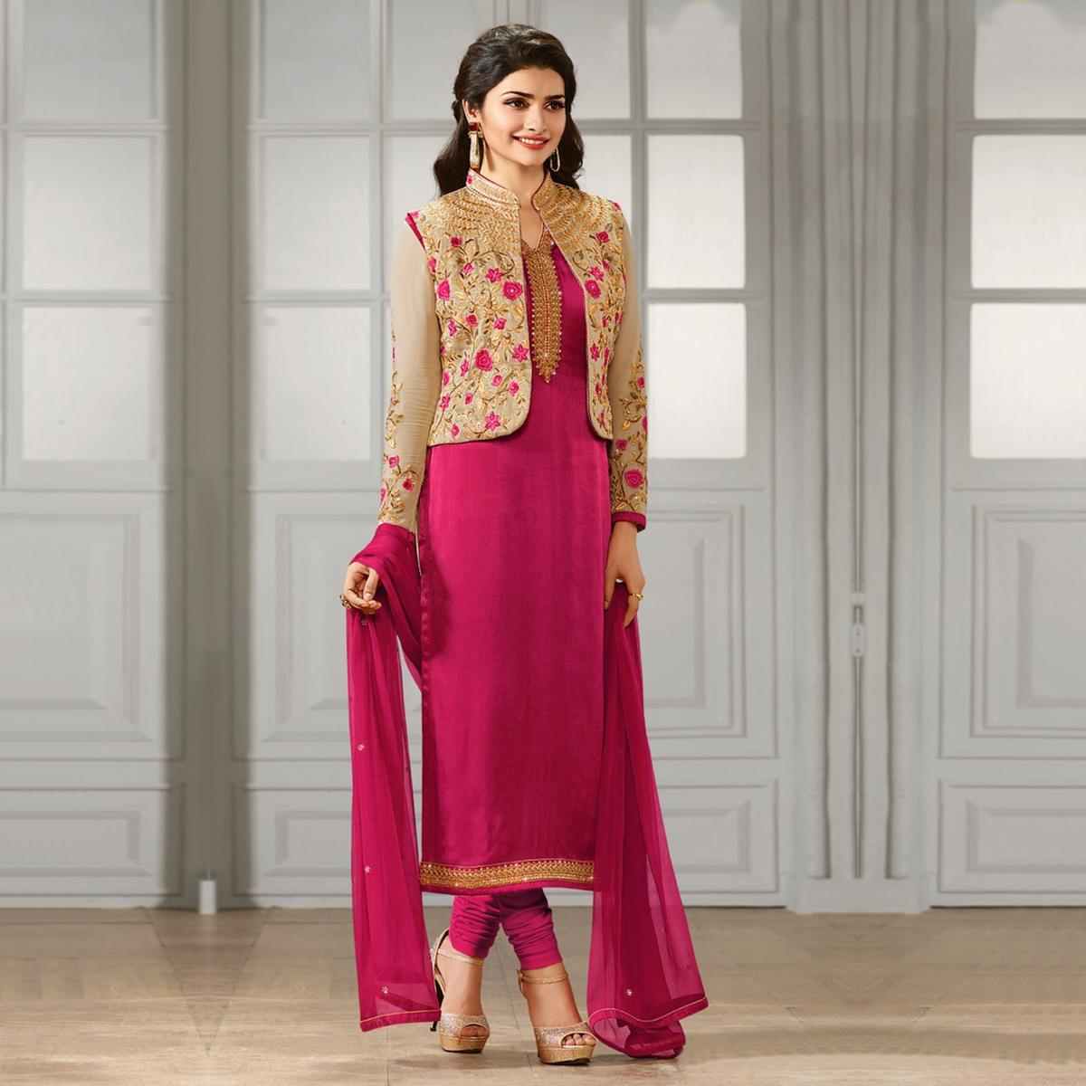 Pink Party Wear Designer Salwar Suit