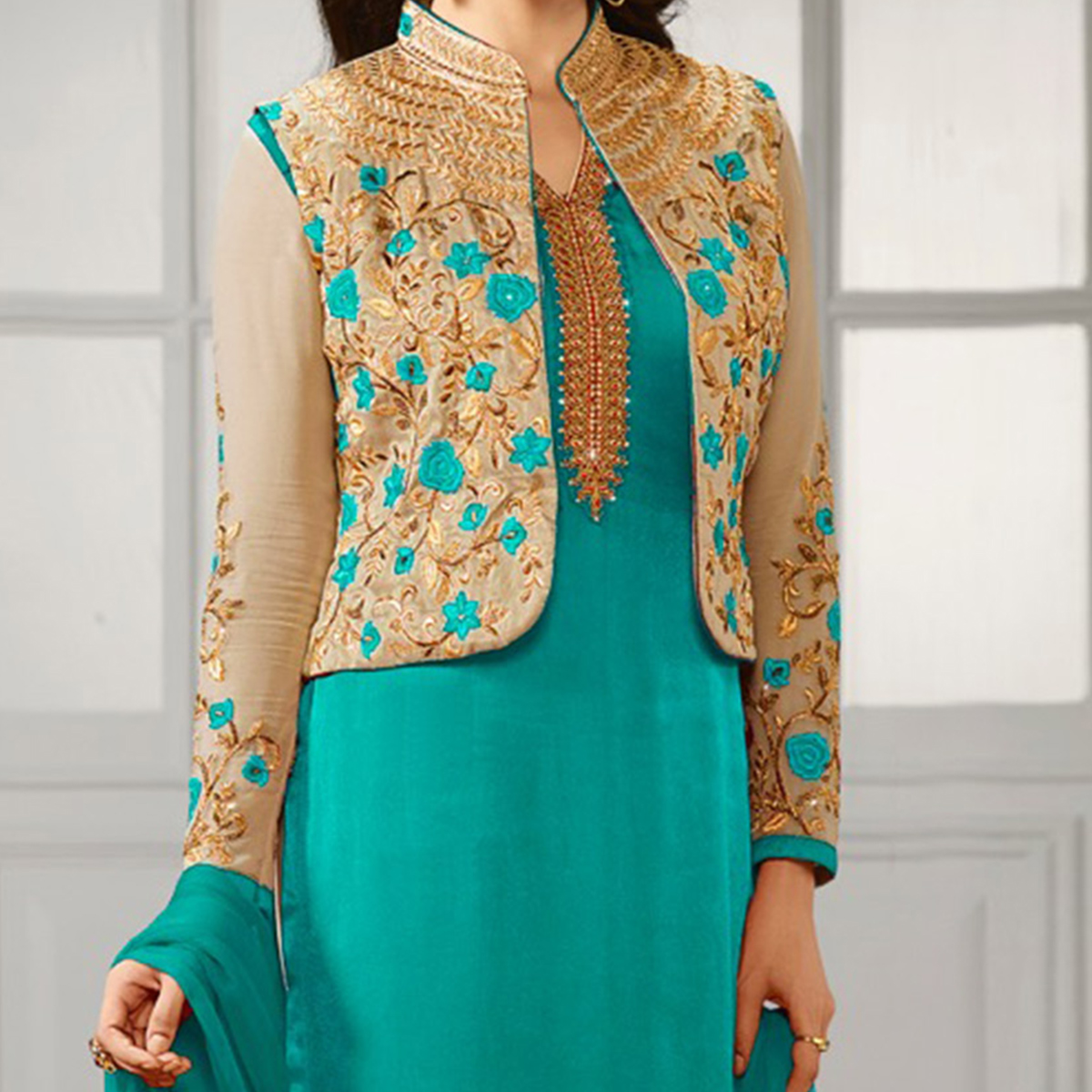 Sky Blue Party Wear Designer Salwar Suit