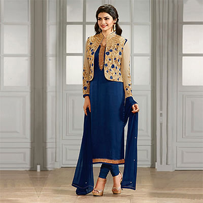 Blue Party Wear Designer Salwar Suit