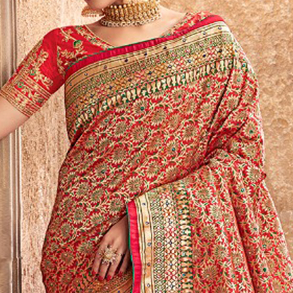 Traditional Red Colored Partywear Woven Pure Banarasi Silk Saree