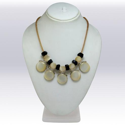White And Golden Colored Imported Stone Western Necklace