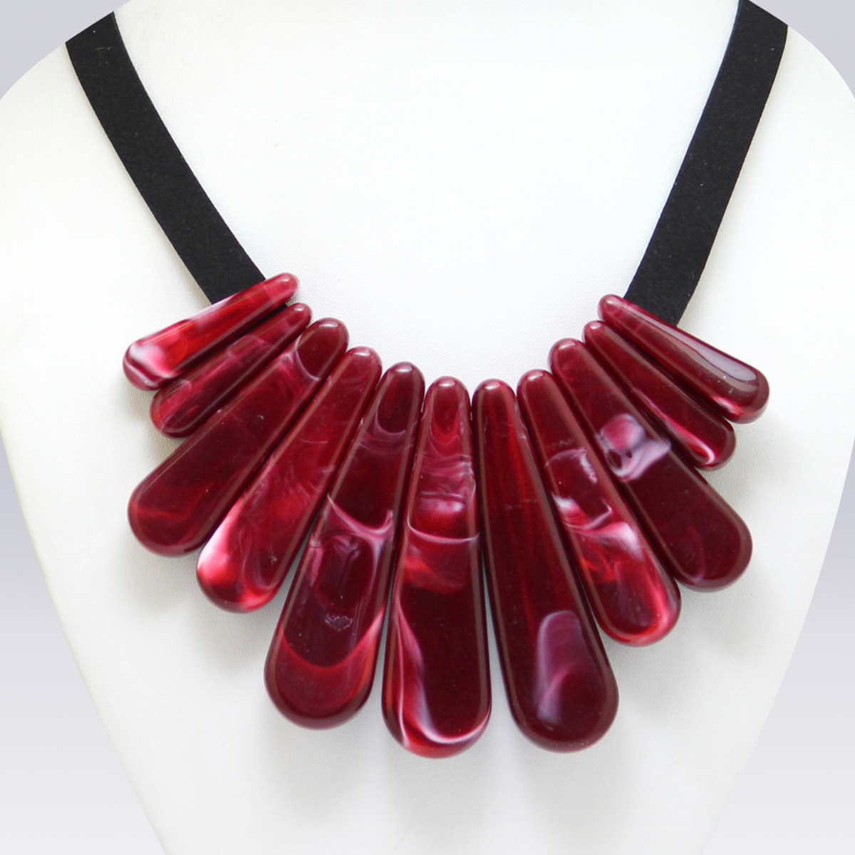 Maroon Colored Imported Stone Western Necklace