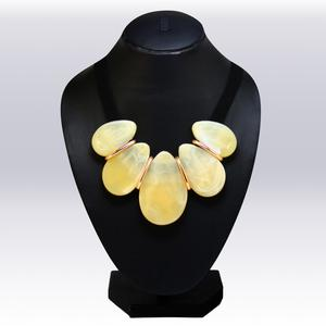 Cream Colored Imported Stone Western Necklace