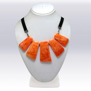 Orange Colored Imported Stone Western Necklace