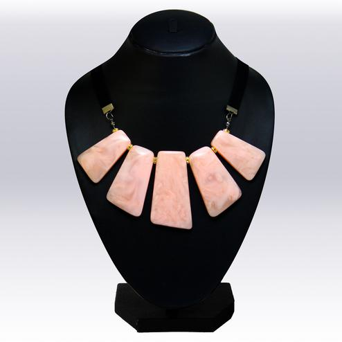 Peach Colored Imported Stone Western Necklace