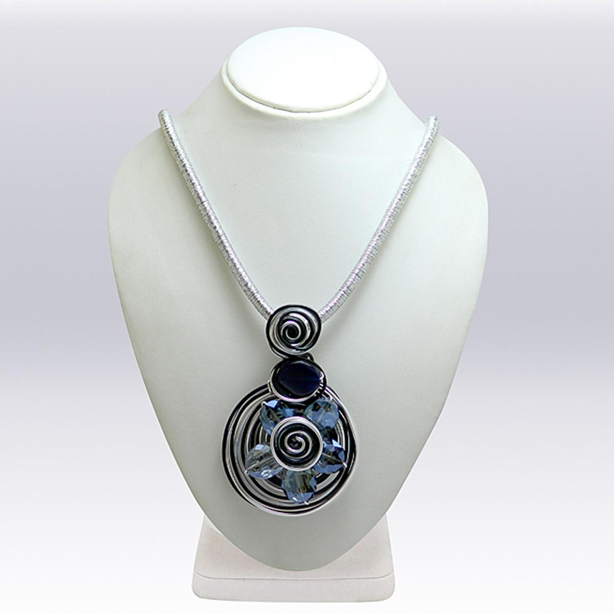 Light Blue Colored Imported Stone Western Necklace