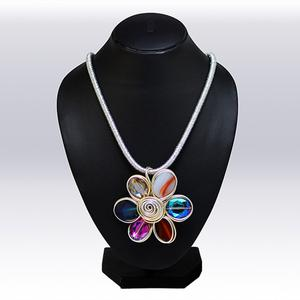 Multi Colored Imported Stone Western Necklace