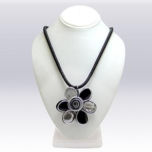 White And Black Colored Imported Stone Western Necklace