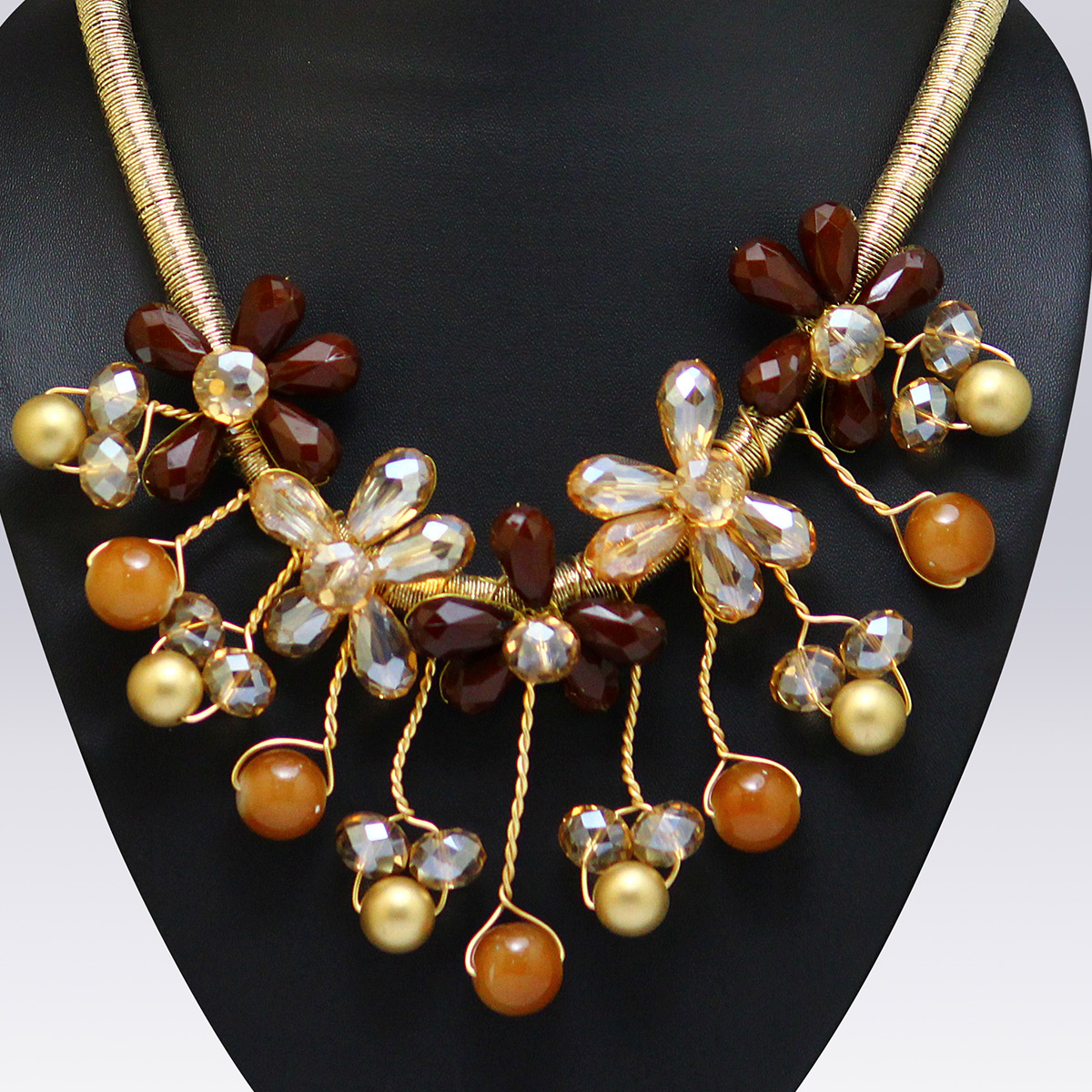 Multi Colored Pearl And Beeds Western Necklace