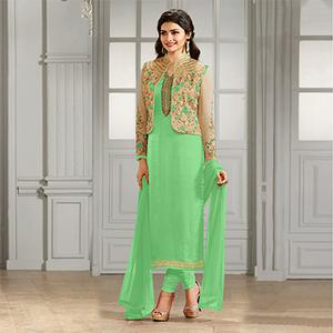 Light Green Party Wear Designer Salwar Suit
