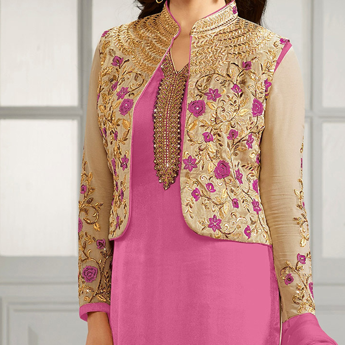Light Pink Party Wear Designer Salwar Suit