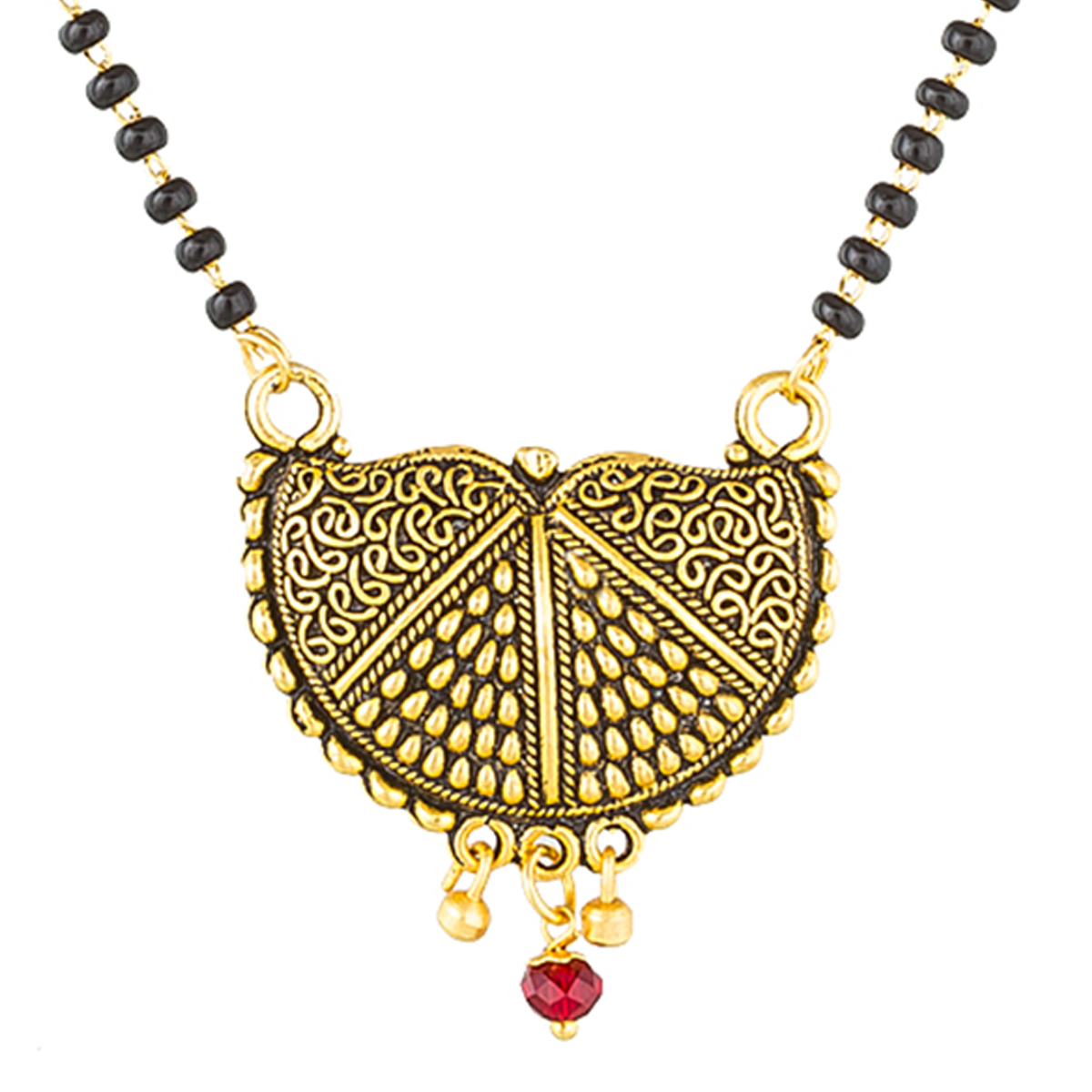 Ravishing Golden Colored Stone Work Mix Metal Mangalsutra