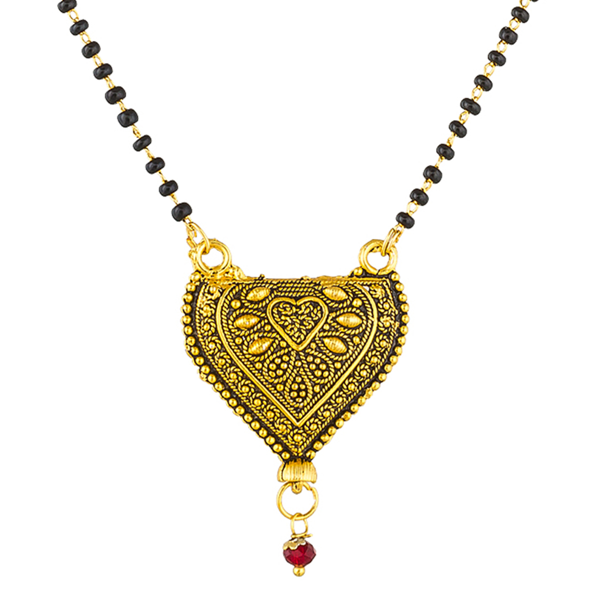 Blooming Golden Colored Stone Work Mix Metal Mangalsutra