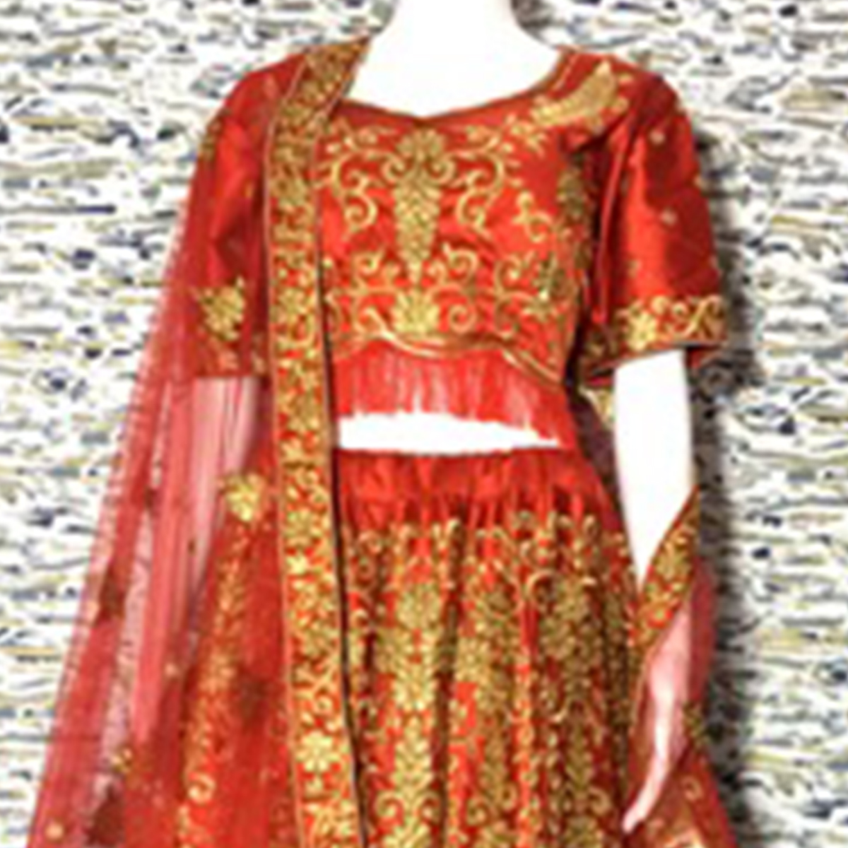 Adorable Red Colored Embroidered Party Wear Satin Lehenga Choli