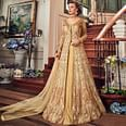 Majesty Cream-Beige Colored Wedding Wear Embroidered Net Lehenga Kameez