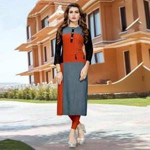 Alluring Multi Colored Casual Wear Rayon Kurti