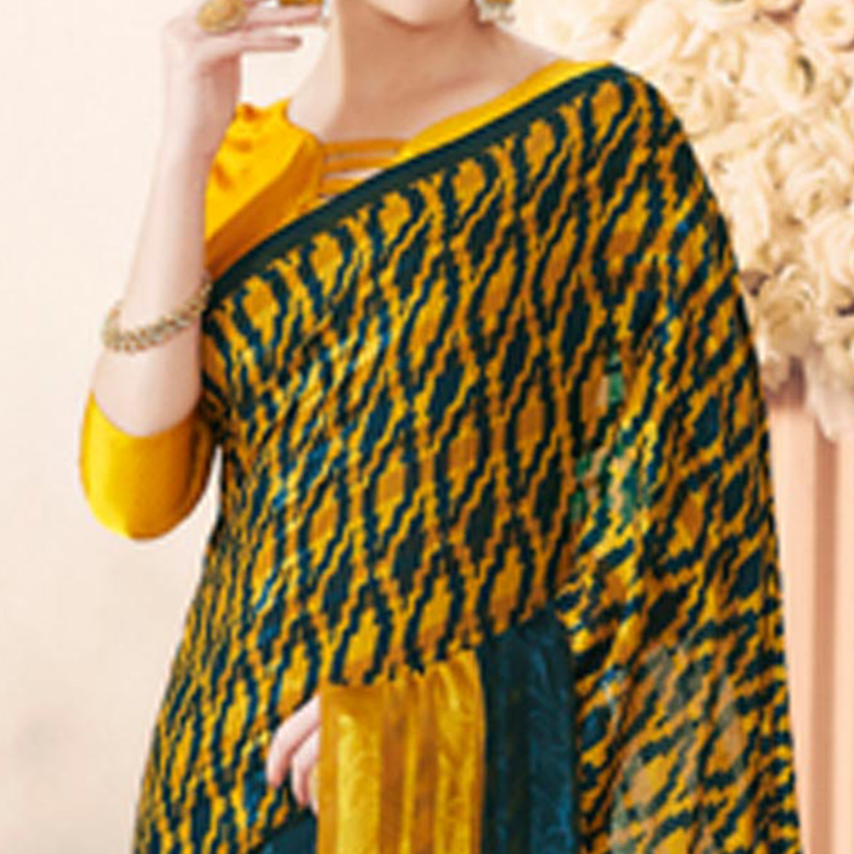 Fab Yellow Colored Casual Printed Art Silk Saree