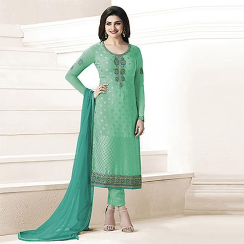 Light Green Partywear Georgette Suit