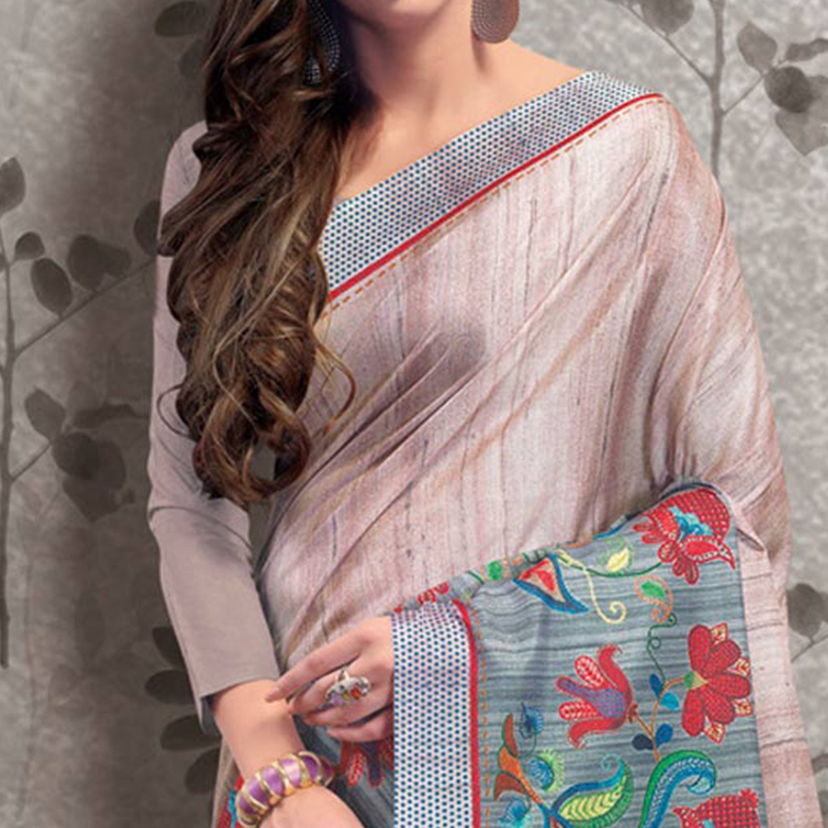 Exceptional Pastel Pink Colored Festive Wear Printed Manipuri Silk Saree