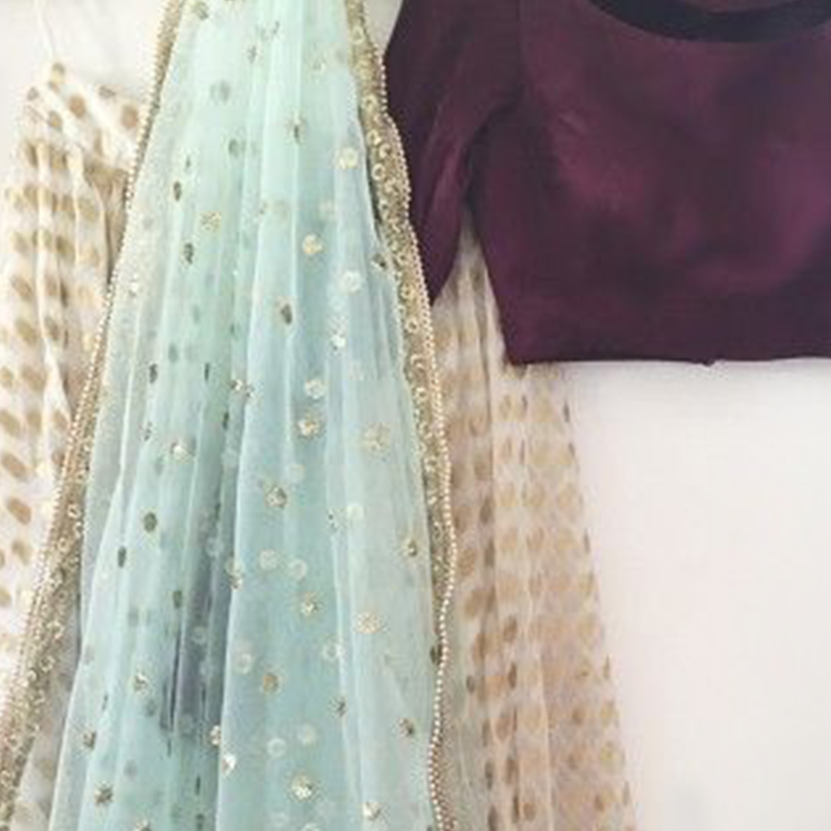 Amazing Wine-Off-White Partywear Jacquard Silk Lehenga Choli