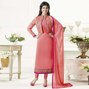 Pink Color Party Wear Designer Salwar Suit