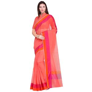 Elegant Pink Colored Festive Wear Art Silk Saree