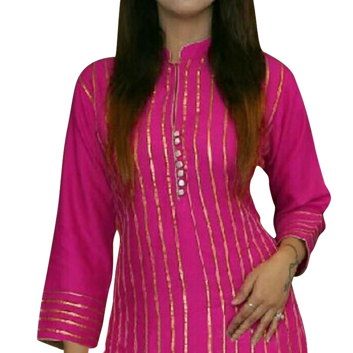 Desirable Pink Colored Partywear Rayon Palazzo Suit