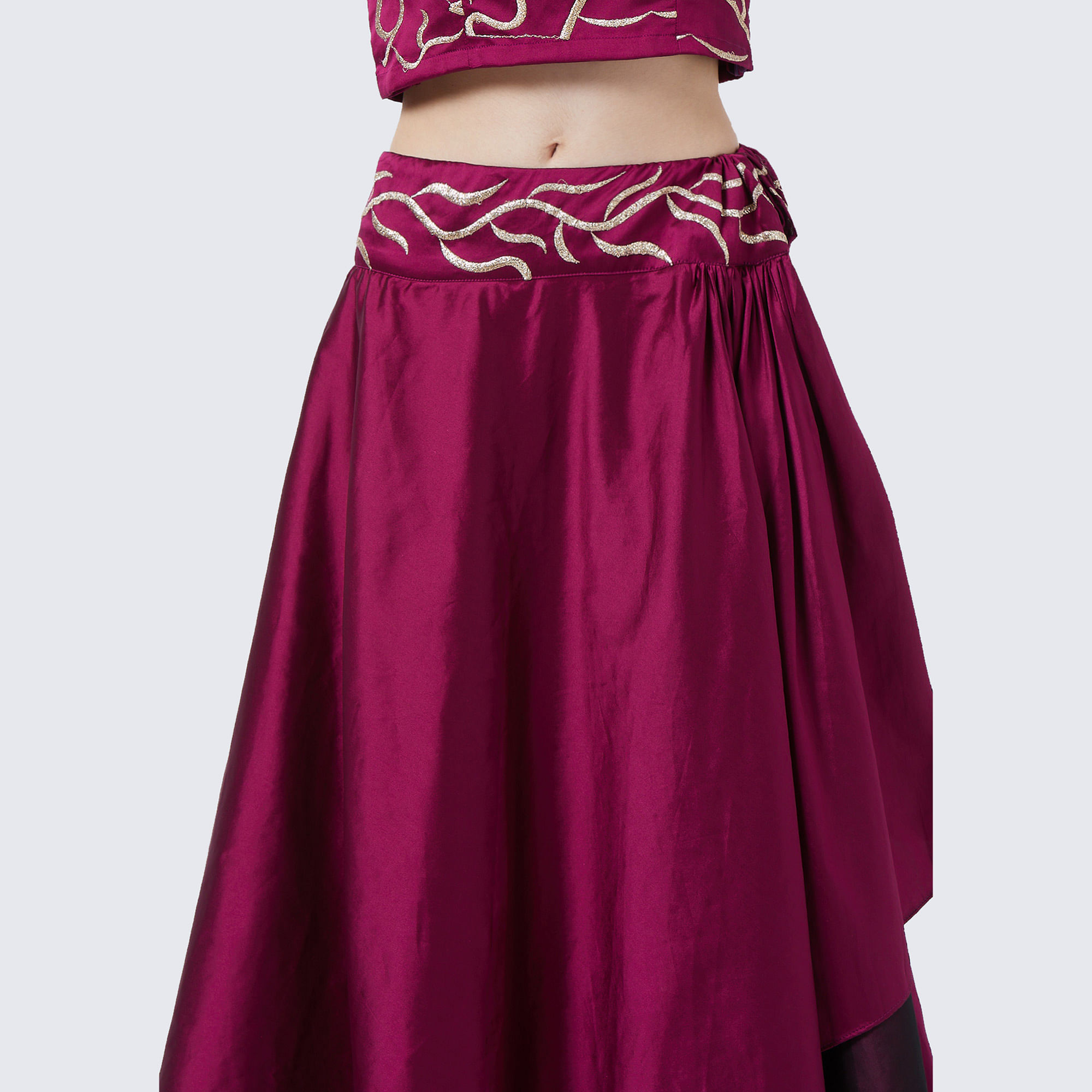 Intricate Purple Colored Party Wear Embroidered Tapeta Silk Lehenga Choli