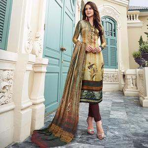 Attractive Multi Colored Digital Printed Partywear Satin Suit