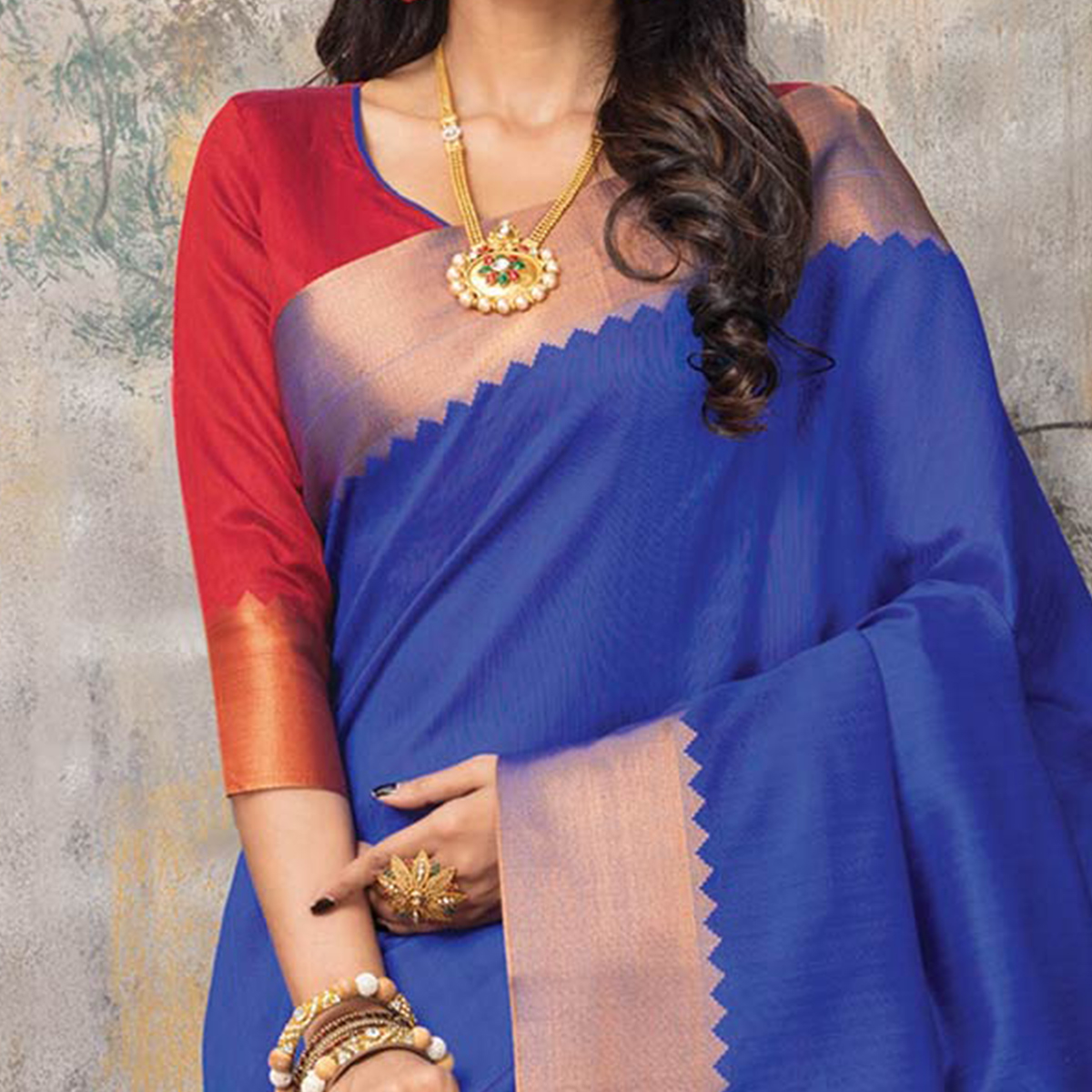 Royal Blue Festive Wear Woven Sambalpuri Saree