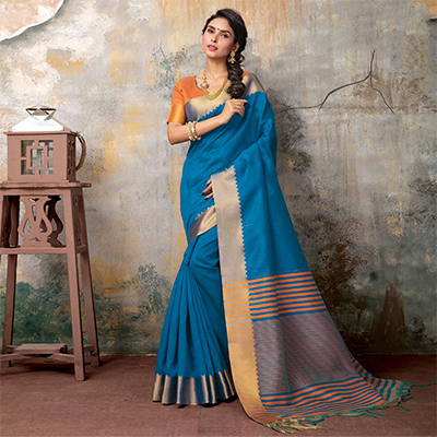 Adorable Rama Festive Wear Woven Sambalpuri Saree