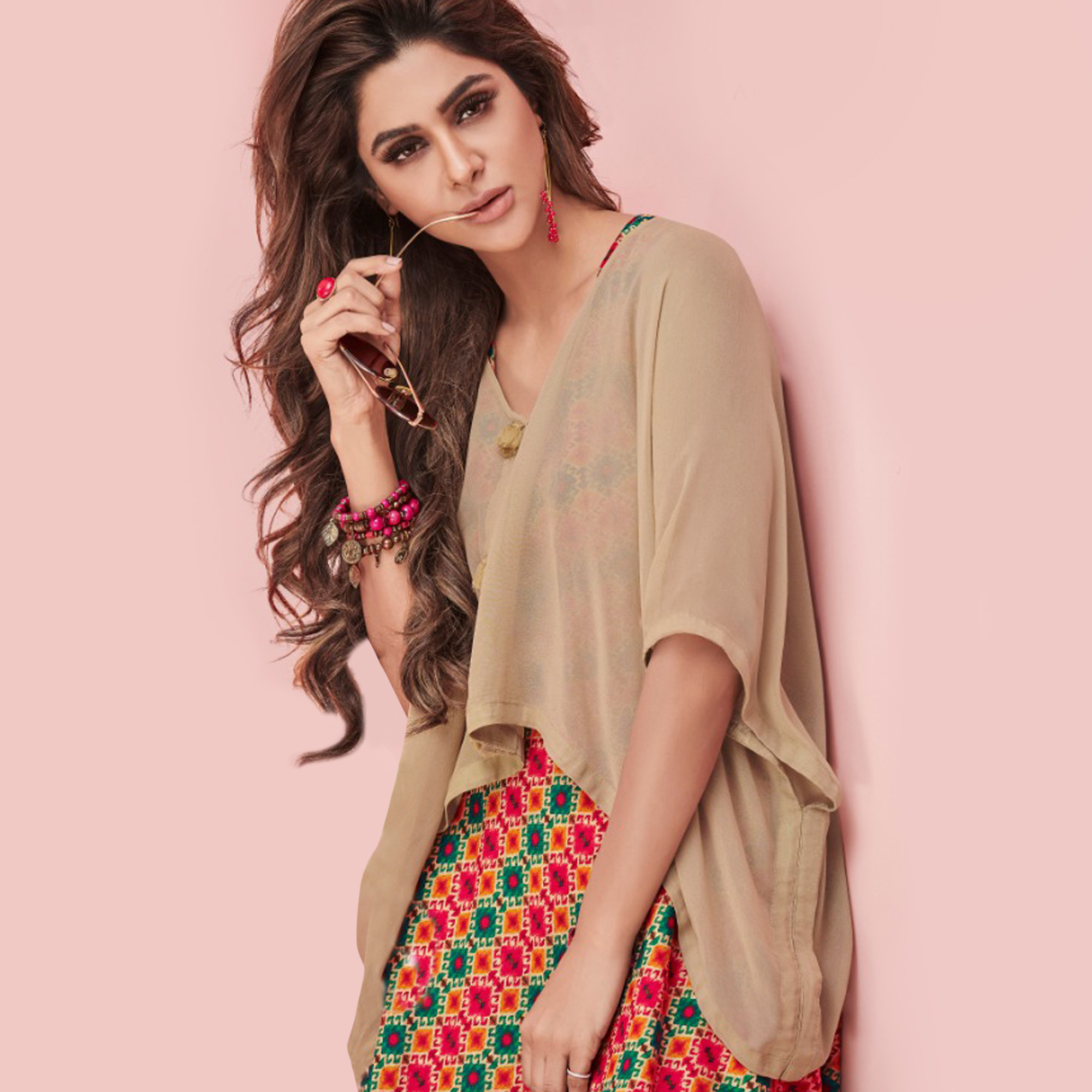 Exceptional Beige-Multi Colored Partywear Printed Rayon Long Kurti