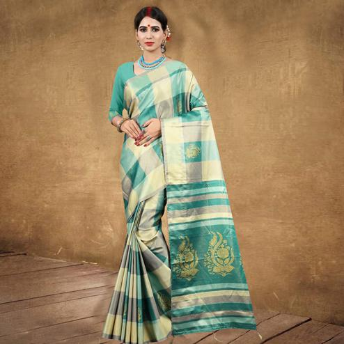 Amazing Multicolored Festive Wear Digital Printed Tussar Silk Saree