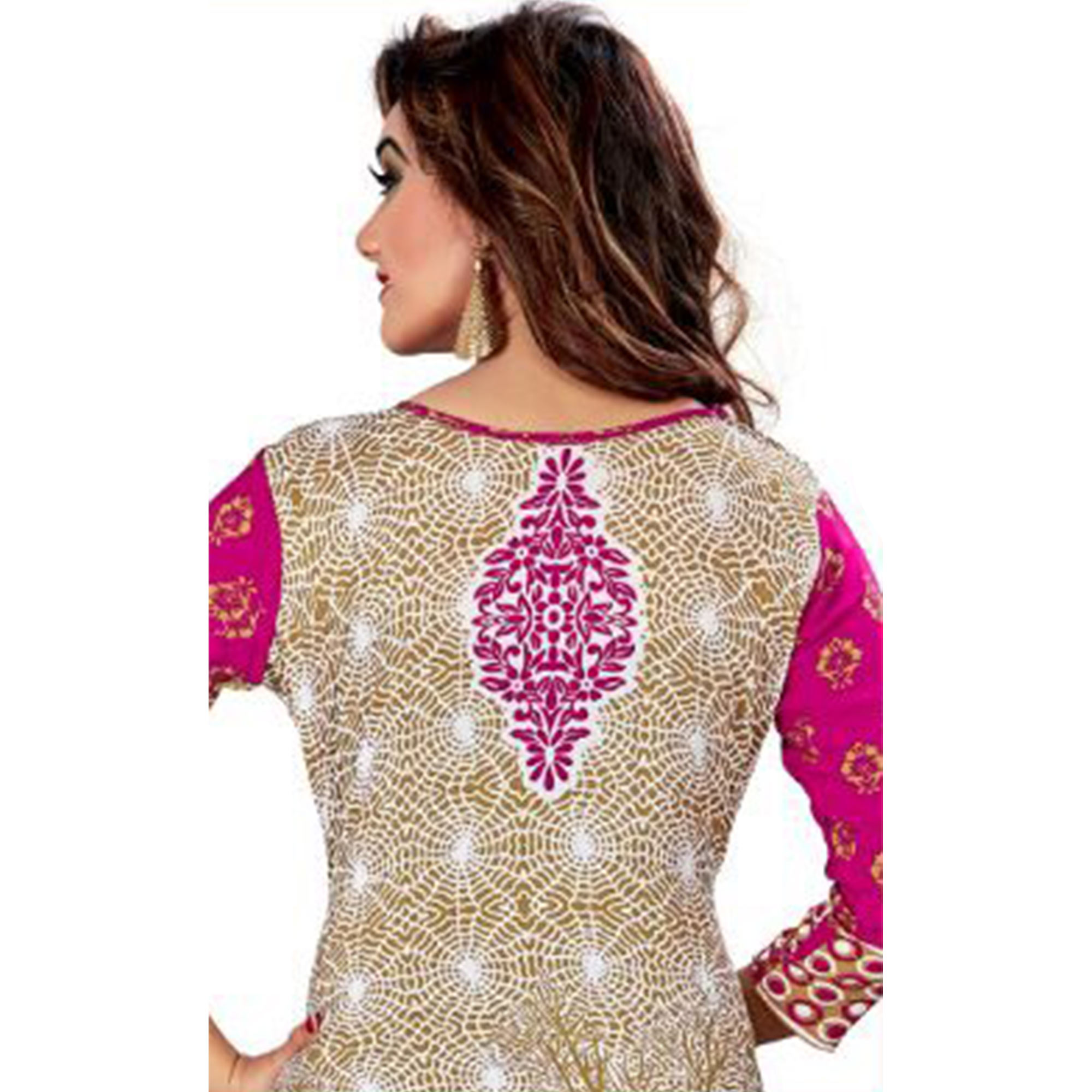Innovative Multi Colored Casual Wear Printed Crepe Salwar Suit