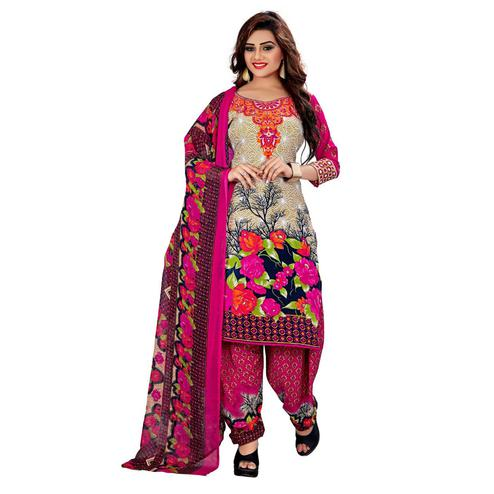 Innovative Multi Colored Casual Wear Printed Leon Salwar Suit