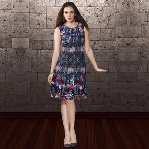 Attractive Multi Colored Party Wear Printed Georgette Kurti