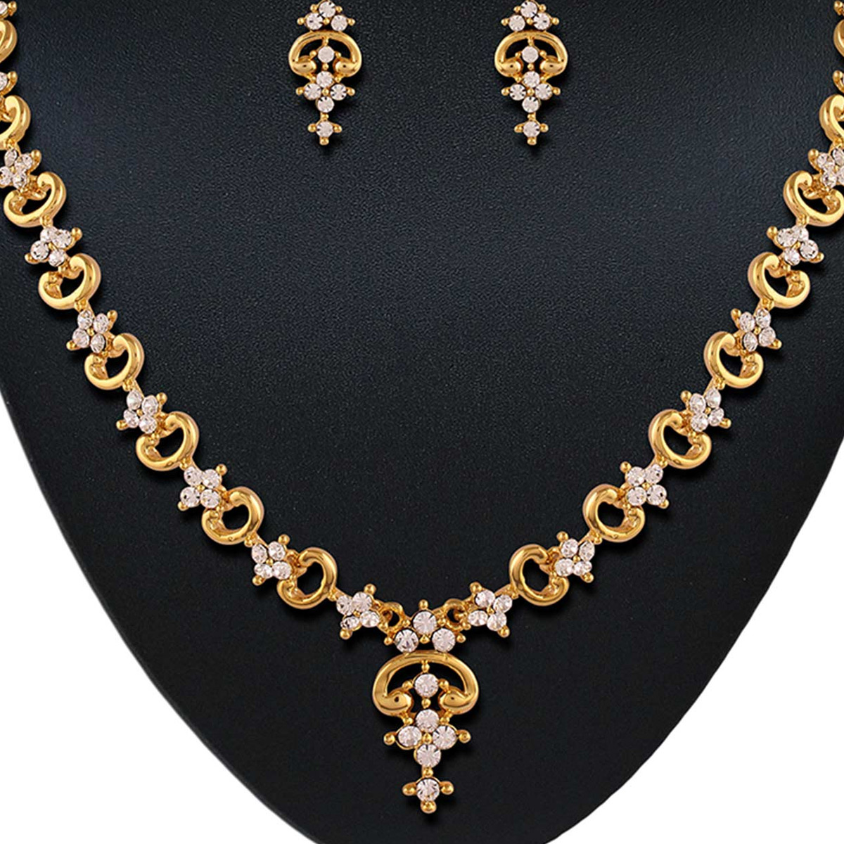 Excellent Micro gold plated australian stone necklace set