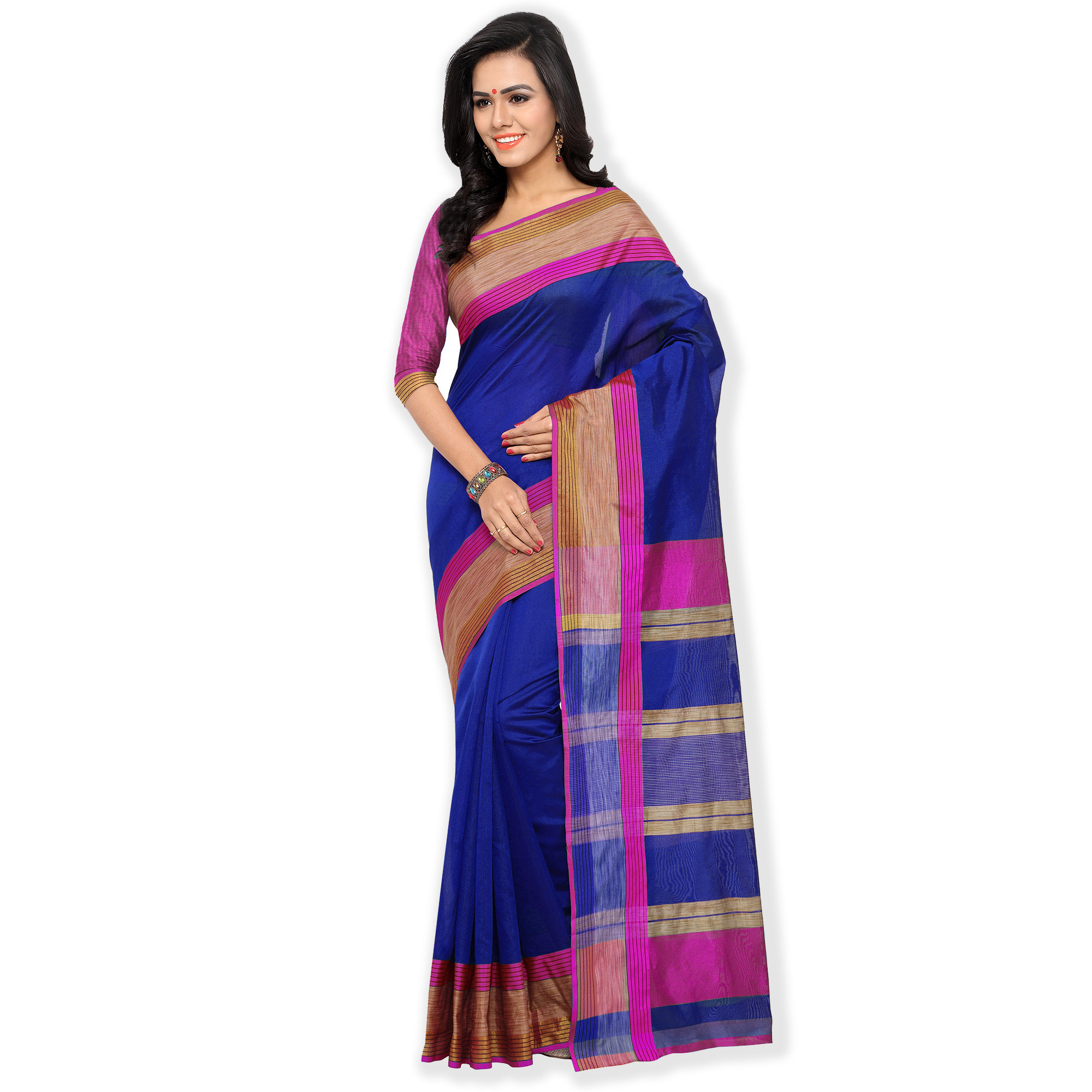 Blue Casual Wear Woven Saree
