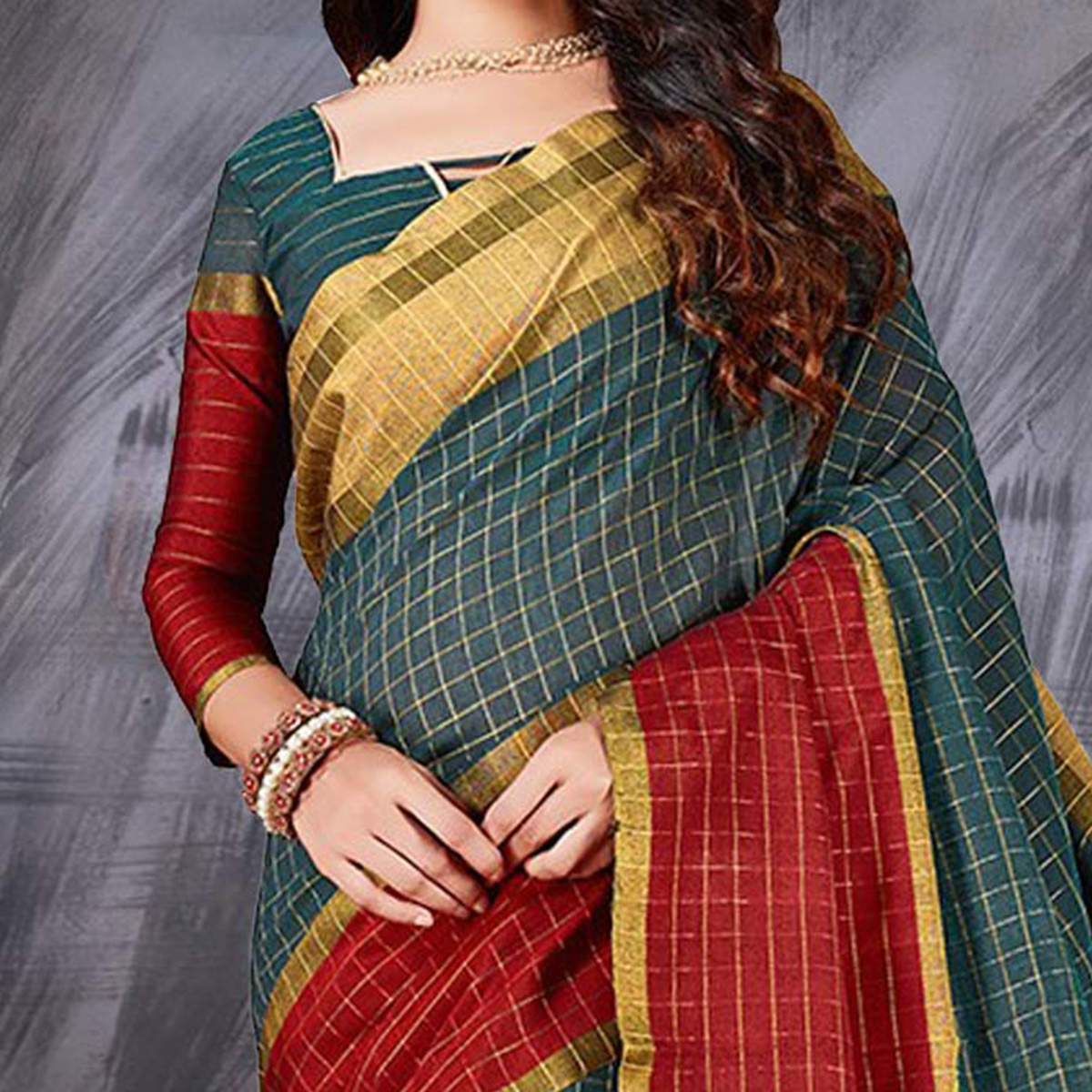 Adorable Green Designer Cotton Silk Jacquard Saree