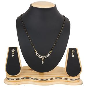 Elegant Golden Colored Diamond Work Mix Metal Mangalsutra